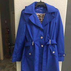 Calvin Klein vivid blue rain coat